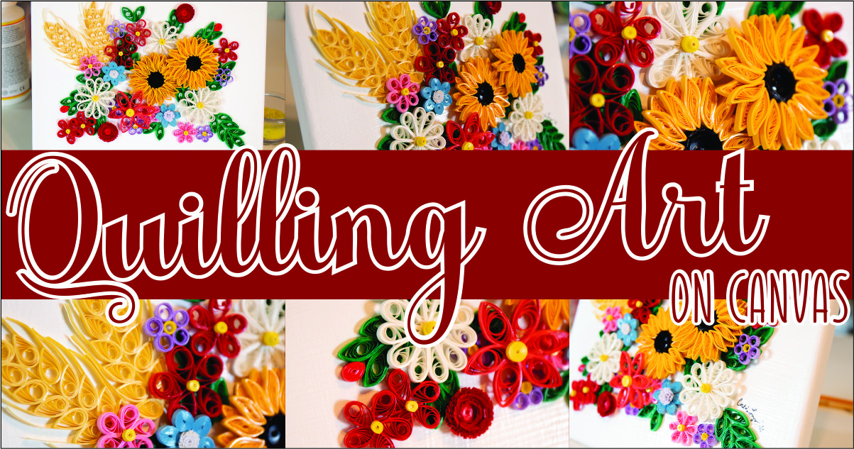 Quilling Art on Canvas