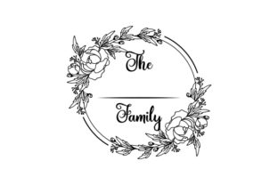 Personalisable Family Wreath Designs & Drawings Craft Cut File By Creative Fabrica Crafts