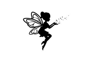 Silhouette of a Fairy Designs & Drawings Craft Cut File By Creative Fabrica Crafts