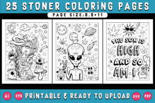 Print on Demand: 25 Stoner Coloring Pages for Adults Graphic Coloring Pages & Books Adults By Dreamsky Publishing