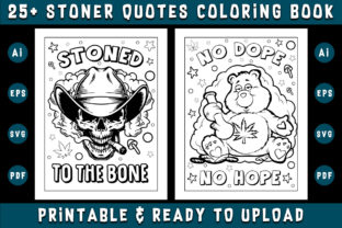 Print on Demand: 25+ Stoner Quotes Coloring Pages Graphic Coloring Pages & Books Adults By Dreamsky Publishing