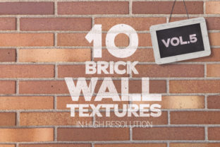 Print on Demand: Brick Wall Textures X10 Vol.5 Graphic Textures By SmartDesigns