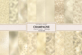 Print on Demand: Champagne Textures Seamless Graphic Backgrounds By The Rose Mind