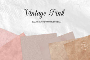 Print on Demand: Digital Paper Vintage Rose Pastel Graphic Textures By The Rose Mind 2