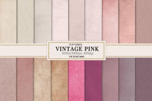 Print on Demand: Digital Paper Vintage Rose Pastel Graphic Textures By The Rose Mind 1