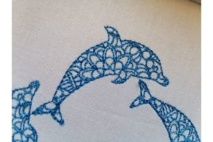 Dolphin Marine Mammals Embroidery Design By ImilovaCreations 4