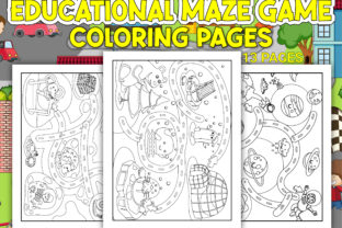 Print on Demand: Educational Maze Game Coloring Pages Graphic Coloring Pages & Books Kids By Simran Store