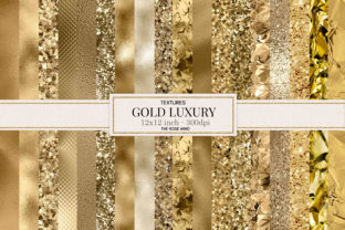 Print on Demand: Gold Texture Seamless, Gold Luxury Graphic Textures By The Rose Mind