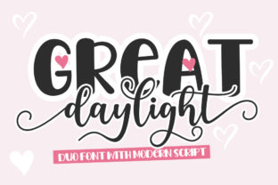 Print on Demand: Great Daylight Duo Script & Handwritten Font By Natural Ink