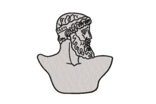 Greek Statue of a Man Europe Embroidery Design By Embroidery Designs