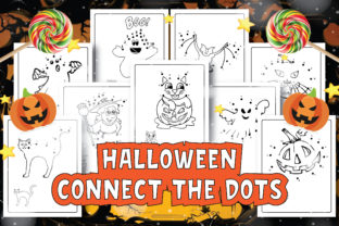 Print on Demand: Halloween Dot to Dot Coloring Pages Graphic Coloring Pages & Books Kids By Moonz Coloring