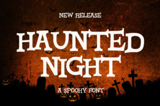 Print on Demand: Haunted Night Display Font By Fallengraphic