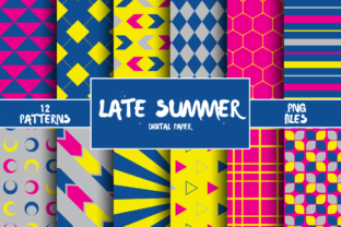 Print on Demand: Late Summer Pattern Digital Paper Graphic Patterns By atlasart
