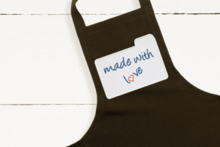 Made with Love Recipe Card Applique Kitchen & Cooking Embroidery Design By DesignedByGeeks