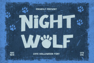 Print on Demand: Night Wolf Display Font By Arendxstudio