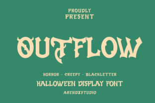 Print on Demand: Outflow Display Font By Arendxstudio