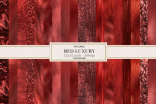 Print on Demand: Red Textures Seamless Graphic Backgrounds By The Rose Mind