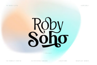 Print on Demand: Roby Soho Display Font By Alit Design