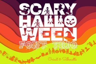 Print on Demand: Scary Halloween Trio Display Font By WADLEN