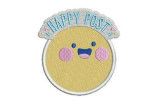 Smiley Face Happy Post Inspirational Embroidery Design By Embroidery Designs