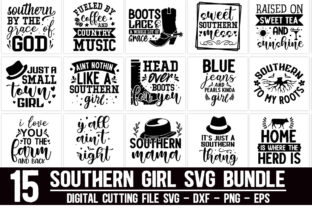 Print on Demand: Southern Girl Bundle Graphic Crafts By Designdealy