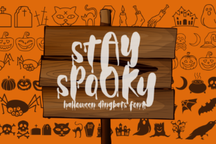 Print on Demand: Stay Spooky Dingbats Font By Dani (7NTypes)