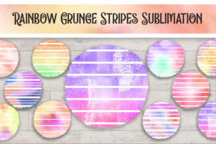Print on Demand: Sublimation Rainbow Grunge Stripes Graphic Backgrounds By PinkPearly