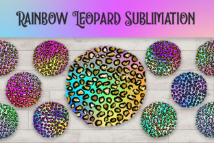 Print on Demand: Sublimation Rainbow Leopard Glitter Graphic Backgrounds By PinkPearly