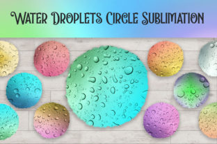 Print on Demand: Sublimation Water Droplets Circle Graphic Backgrounds By PinkPearly
