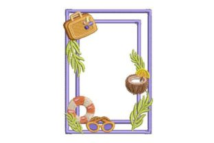 Summer Border Summer Embroidery Design By Embroidery Designs