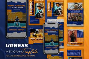 URBESS -Instagram Stories & Post Graphic Web Templates By ant project template