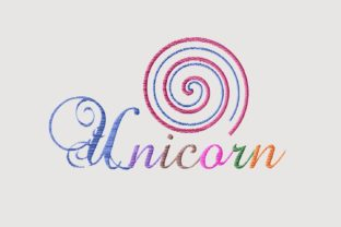 Print on Demand: Unicorn Rainbow Color Cute Lettering Animal Quotes Embroidery Design By setiyadissi