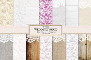 Print on Demand: Wood Wedding Lace Background Graphic Backgrounds By The Rose Mind