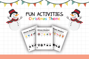 Worksheet Christmas Shadow for Kids Graphic K By materialforkidsid