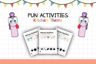 Worksheet Kitchen Whose Shadow for Kids Graphic K By materialforkidsid
