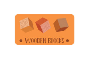 Wooden Blocks Label Designs & Drawings Craft Cut File By Creative Fabrica Crafts