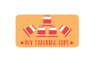 Toy Stacking Cups Label Designs & Drawings Craft Cut File By Creative Fabrica Crafts