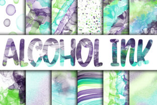 Print on Demand: Alcohol Ink Digital Papers Graphic Backgrounds By oldmarketdesigns