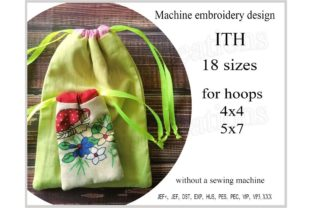 Bag in the Hoop Accessories Embroidery Design By ImilovaCreations
