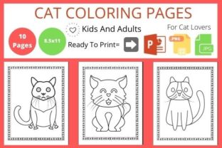 Cat Coloring Book for Cats Lover Graphic Coloring Pages & Books By POD Helper BD