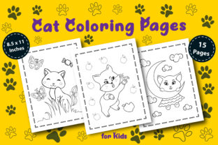Cat Coloring Pages for Kids V. 02 Graphic Coloring Pages & Books Kids By KDP Booktopia