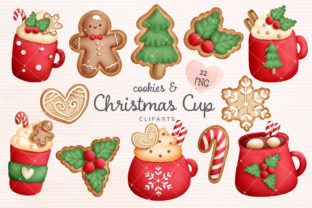 Print on Demand: Christmas Cup, Winter Drink Clipart Graphic Illustrations By ArvinDesigns