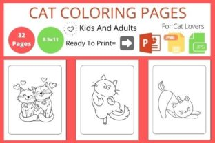 Cute Cat Coloring Book for Cat Lovers Graphic Coloring Pages & Books By POD Helper BD
