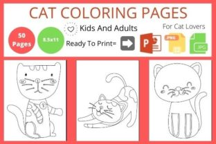 Cute Cat Coloring Book for Cats Lover Graphic Coloring Pages & Books By POD Helper BD