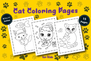 Cute Cat Coloring Pages for Kids V.01 Graphic Coloring Pages & Books Kids By KDP Booktopia