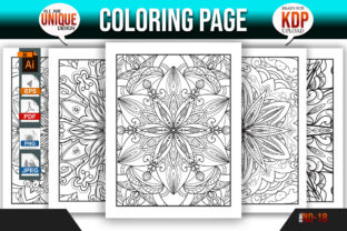 Print on Demand: Floral Coloring Book KDP Interior Bundle Graphic Coloring Pages & Books Adults By Mishukhatun