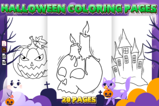 Print on Demand: Halloween Coloring Book for Toddlers Graphic Coloring Pages & Books Kids By Kristy Coloring