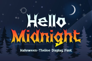 Print on Demand: Hello Midnight Display Font By airotype