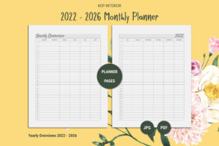 Print on Demand: KDP Five Year Planner 2022 - 2026 Graphic KDP Interiors By The Low Content Bookshelf 6