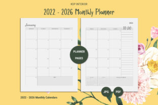 Print on Demand: KDP Five Year Planner 2022 - 2026 Graphic KDP Interiors By The Low Content Bookshelf 7
